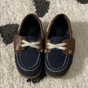 Toddler Boat shoes in Navy/Brown 7